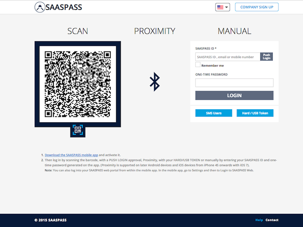 SAASPASS Multi Factor Authentication and Single Sign On