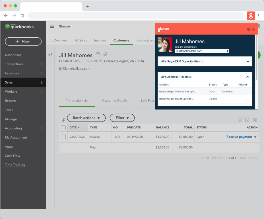 View Sugar data from other applications such as QuickBooks