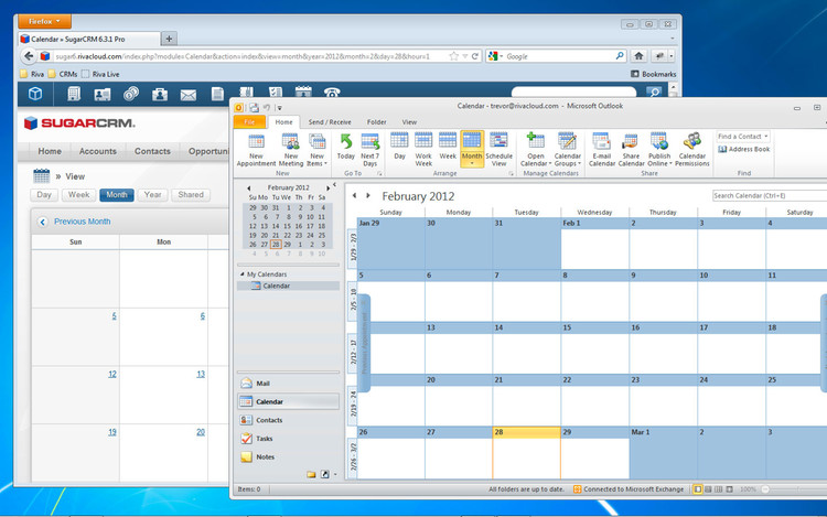 Sync SugarCRM calendars to your email system