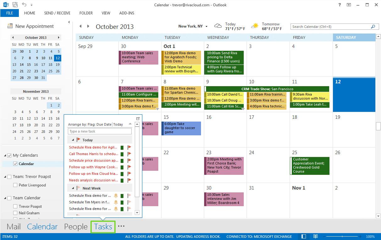 Sync calendar events and tasks