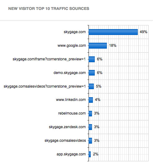 New Visitor Top 10 Traffic Sources
