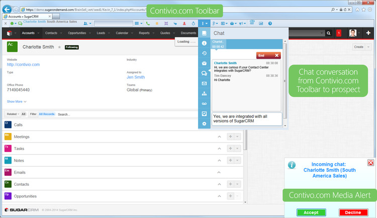 SugarCRM Chat Integration