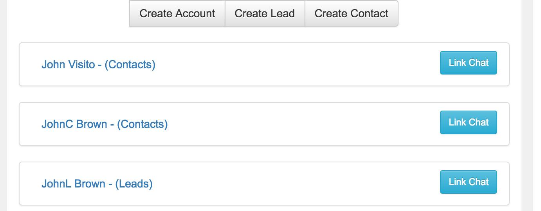 Link Chat transcript to record via widget