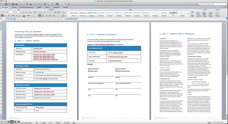 Easily Create Document Templates