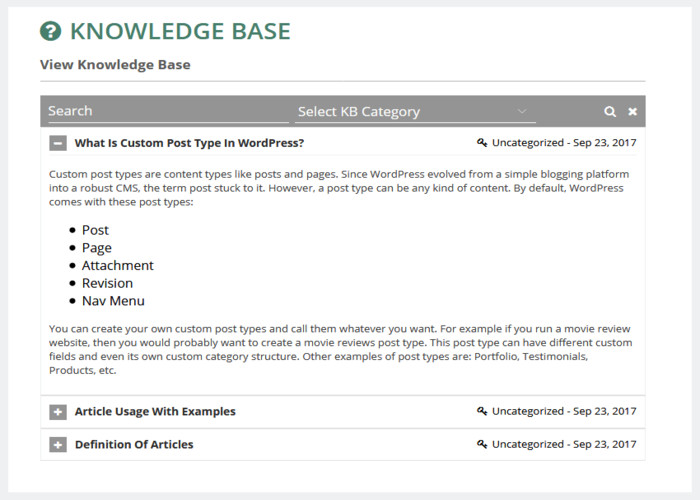 Access Knowledge Base from Portal