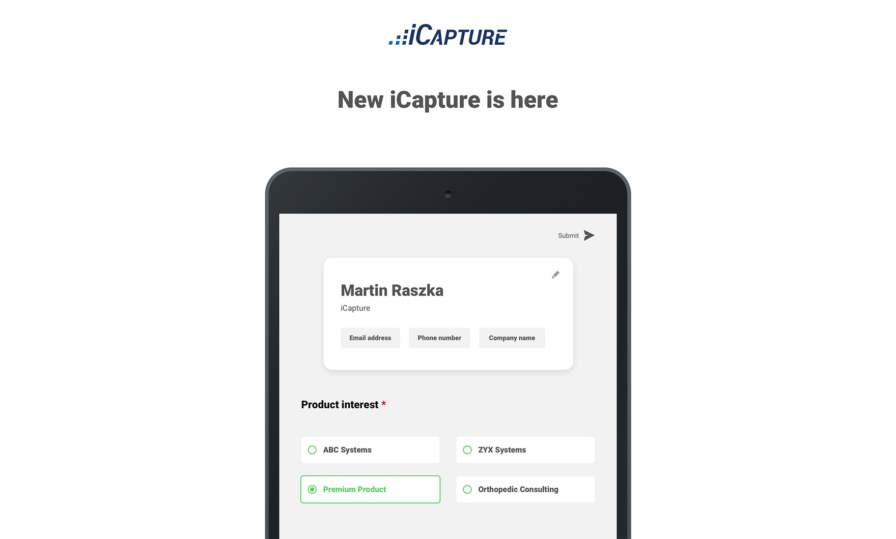 Capture Leads On Your iOS or Android Device