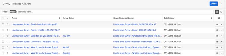 Survey Response Answers