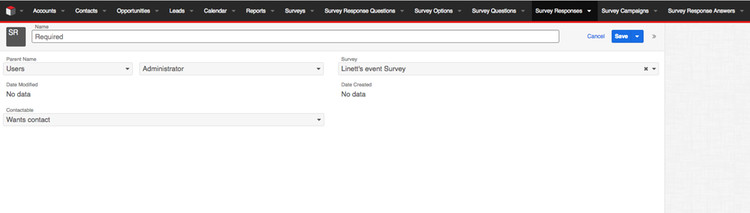 Create Response option