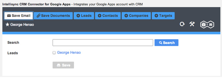 Easily Attach Emails Directly to your CRM Contacts